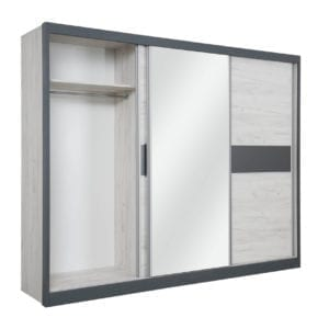 Sliding wardrobe APM 280 Snowy oak-Antracit